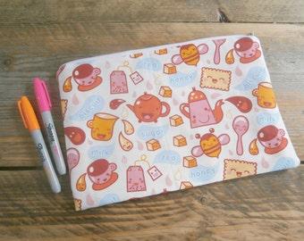 LG Kawaii Tea Party Zipper Pouch / Bag
