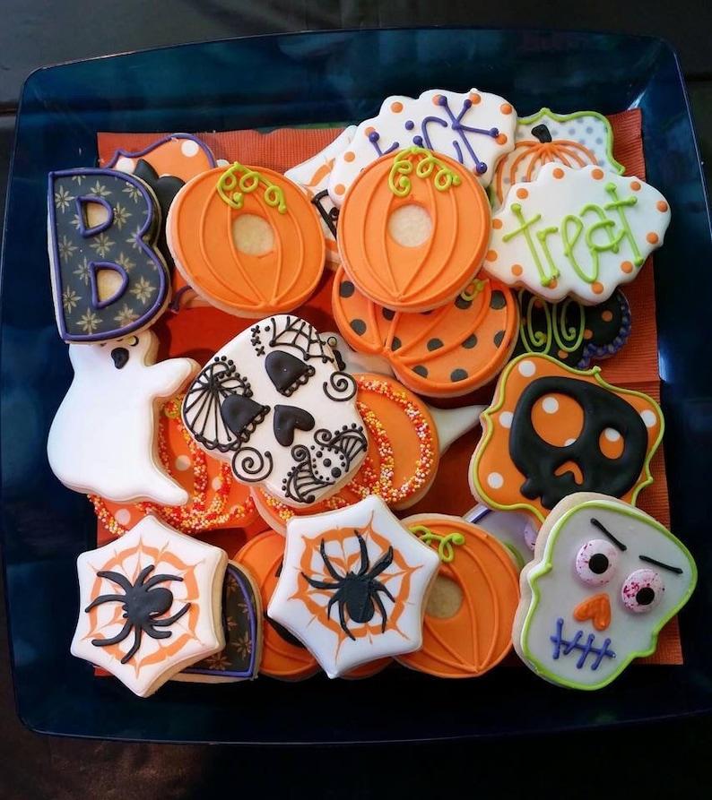 Halloween Decorated Sugar Cookies 1 Dozen