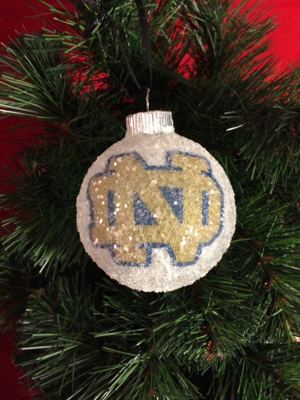 Notre Dame glass glitter ornament | Etsy