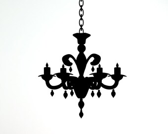 Chandelier Vinyl Wall Decal (23 x 29 inches) CH07