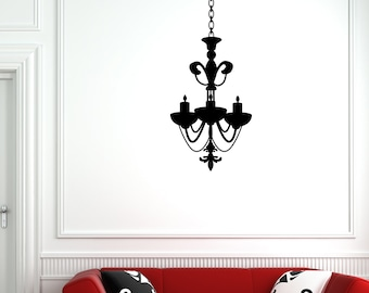 Chandelier Vinyl Wall Decal (19 x 32 inches) CH04