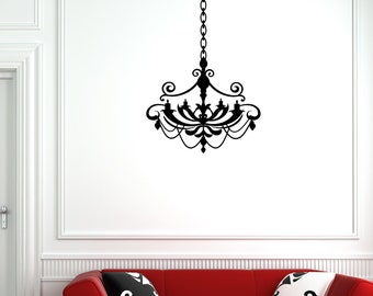 Chandelier Vinyl Wall Decal (23 x 27 inches) CH05