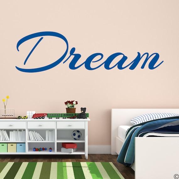 Dream Vinyl Wall Decal Inspirational Quote home decor design art sticker L006
