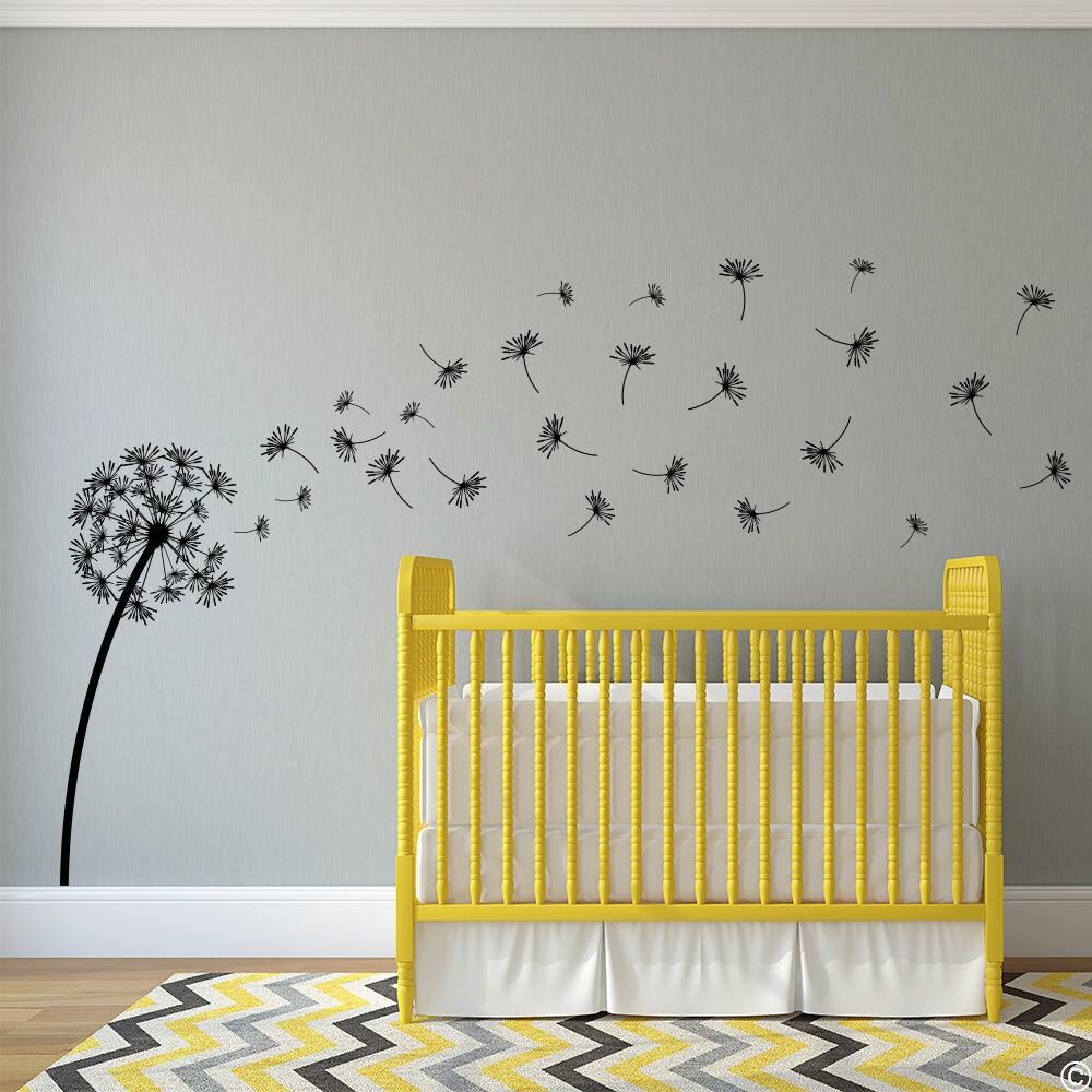 Dandelion The Glinda Vinyl Wall Decal with 27 DIY | Etsy