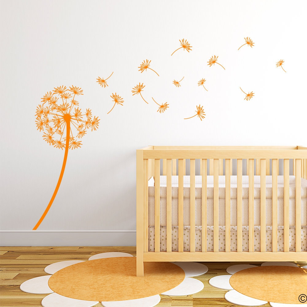 Dandelion The Arianna Vinyl Wall Decal with seeds