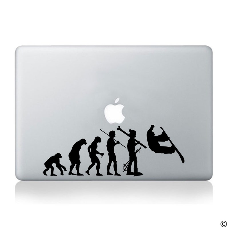 Snowboarding Decal Evolution Of Man Fits Laptops Cars Windows And More Professional Glossy Vinyl K028
