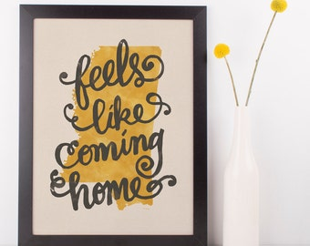 Mississippi Feels Like Coming Home state hand lettering digital print // Quote print // Gift for Her // Gift for Him // Canvas print