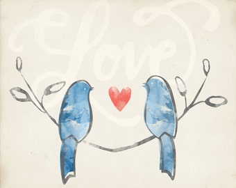 Love Birds 8 x 10 print