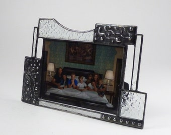 5 X 7 stained glass picture frame - one of a kind - horizontal