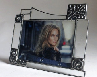 horizontal one of a kind 5 X 7 amber color picture frame