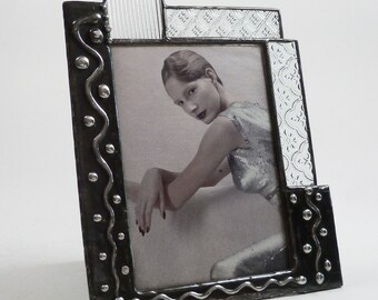 5 X 7 glass picture frame - one of a kind - vertical
