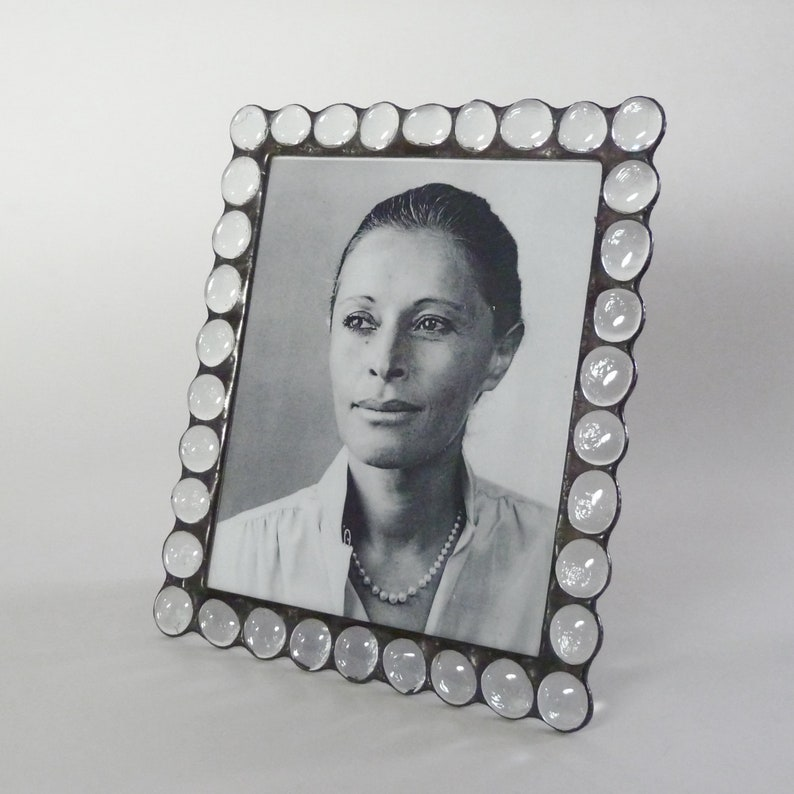 Picture frame  Stained glass  8x10  clear glass image 1