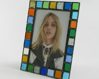 5 X 7 picture frame - Translucent color glass - vertical or horizontal