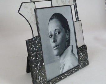 Stained glass picture frame - one of a kind - 8x10 vertical