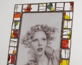 5 X 7 picture frame - confetti art glass - vertical or horizontal - only one