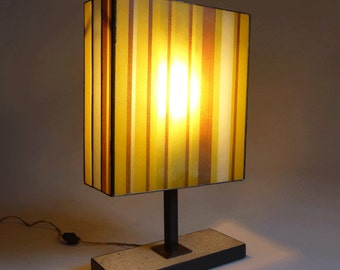 Stained glass table lamp  - One of a kind - Airbrush glass enamels