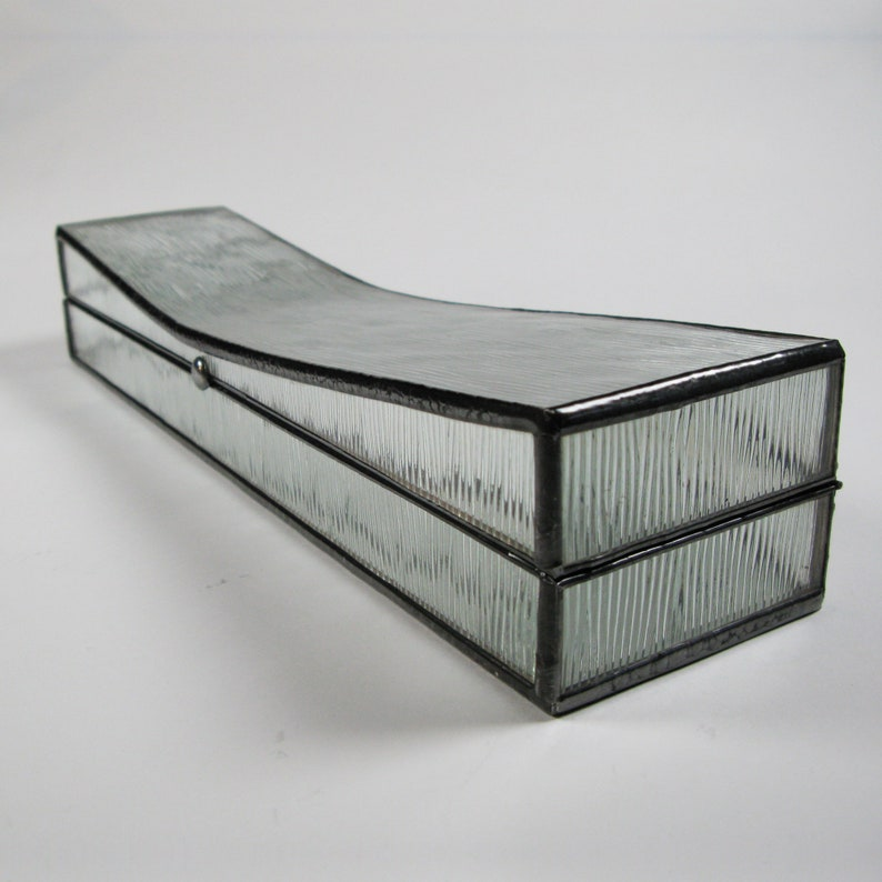 Stained glass Jewelry box  Opium pillow box  uneven lines image 1