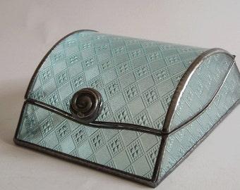 Jewelry box - diamond glass pattern