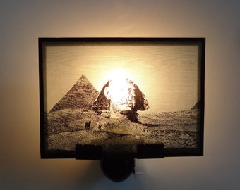 Nightlight - Egypt - Great Sphinx of Giza at the Pyramid