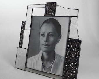 8 X 10 glass  picture frame - one of a kind - vertical