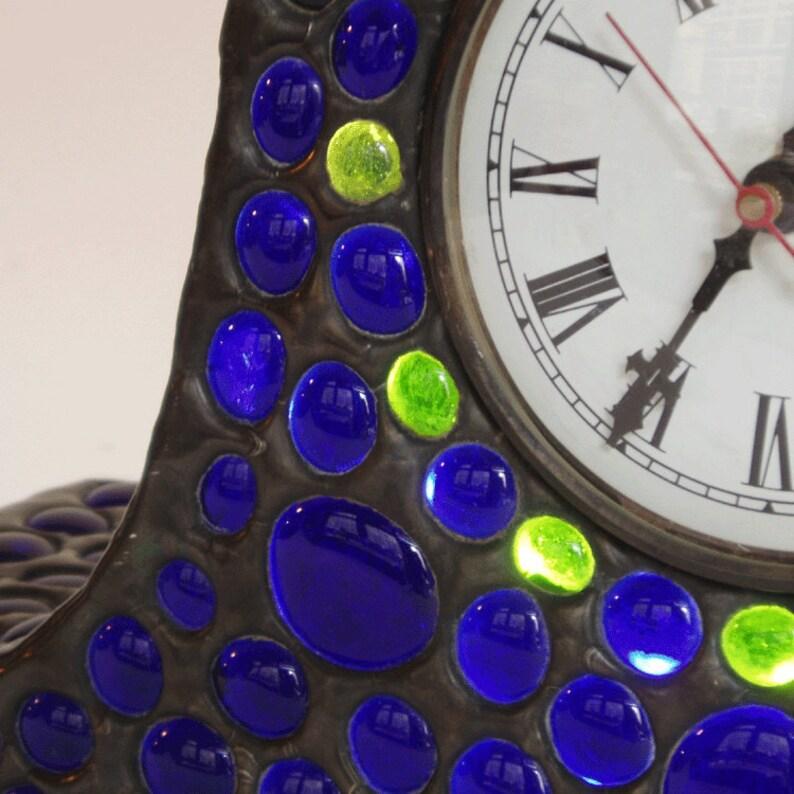 Pendule en verre teinté - Cobalt