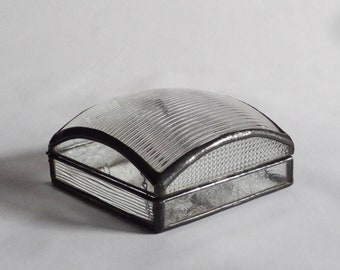 Jewelry box - glass patchwork - free shipping