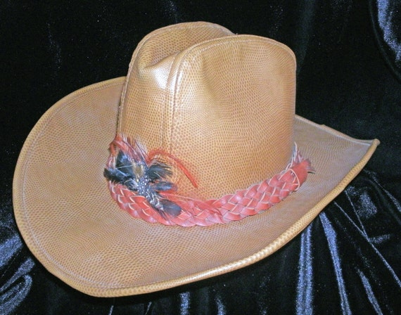 Hat Cowboy Rockmount Ranch Wear Tru West Leather