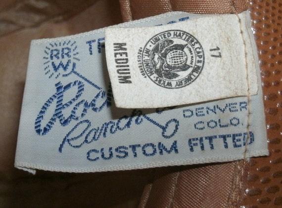Hat Cowboy Rockmount Ranch Wear Tru West Leather - image 3