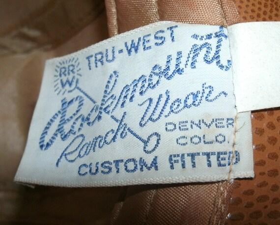 Hat Cowboy Rockmount Ranch Wear Tru West Leather - image 4