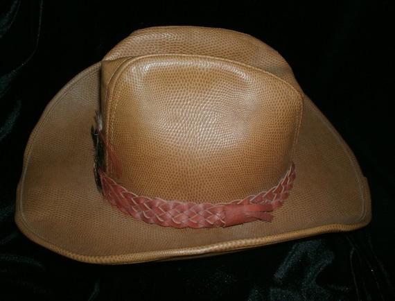 Hat Cowboy Rockmount Ranch Wear Tru West Leather - image 2