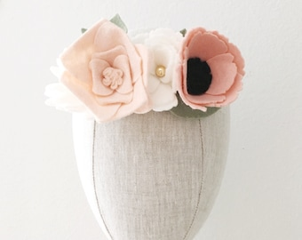 Baby/Child/Adult Felt Flower Crown || Flower Crown || Felt Flowers || Floral Crown || Festival Wear || Photo Prop