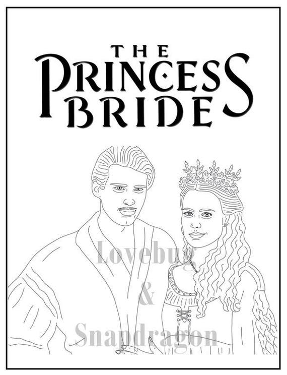 The Princess Bride Coloring Book Instant Printable Digital Etsy