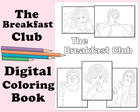 The Breakfast Club Coloring Book Instant Printable Digital Etsy