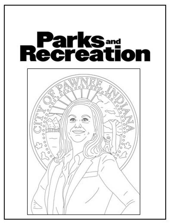 Marvelous Parks And Recreation Coloring Book Instant Printable Digital File Travel Activity Rainy Day Activity Art Therapy Coloring Pages Interior Design Ideas Tzicisoteloinfo