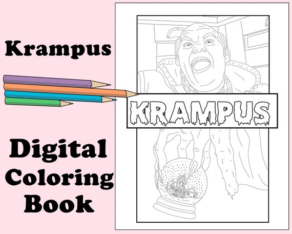 - Krampus Digital Coloring Book // Christmas Color Horror Etsy
