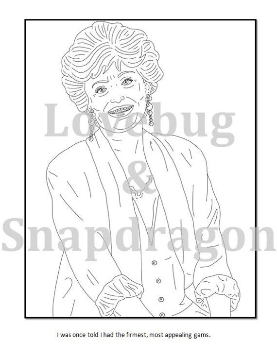Golden Girls Digital Coloring Book // Instant Printable File, Travel  Activity, Rainy Day Activity, Art Therapy, Coloring Page, Gift for Mom