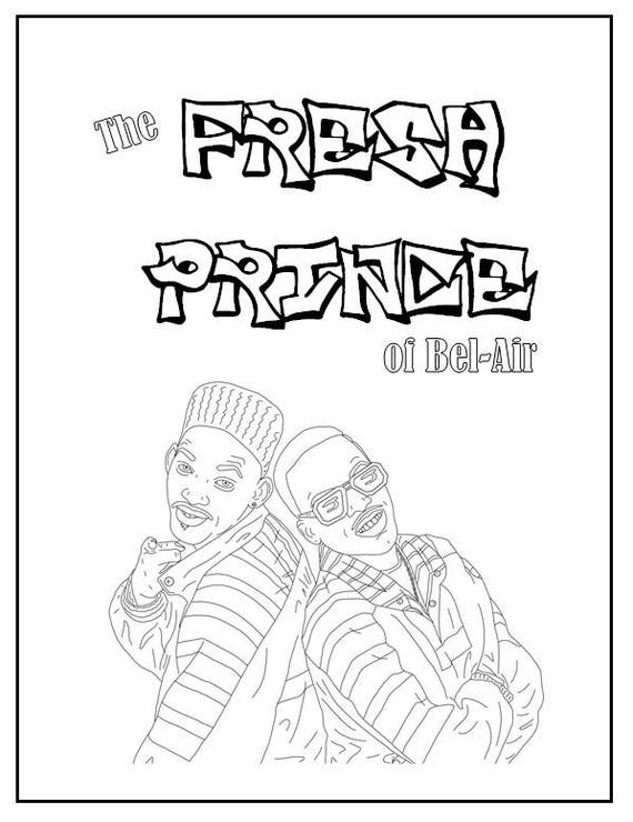 Remarkable Fresh Prince Of Bel Air Coloring Book Instant Printable Digital File Travel Activity Rainy Day Activity Art Therapy Coloring Pages Interior Design Ideas Tzicisoteloinfo