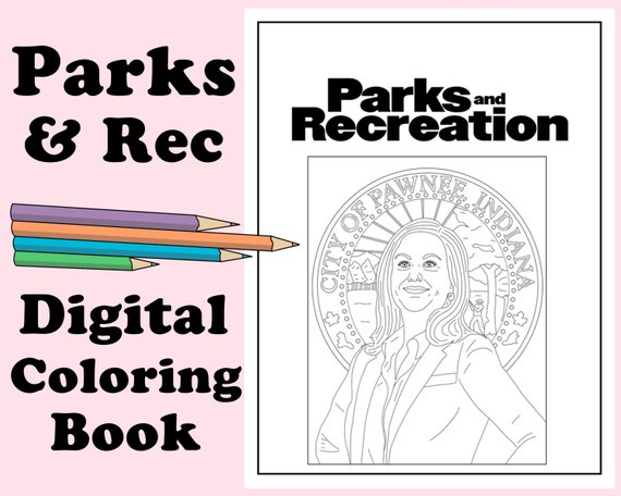 Parks And Recreation Coloring Book // Instant Printable Etsy