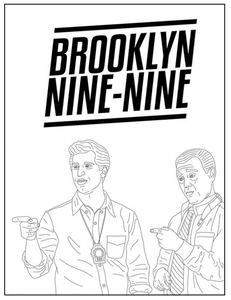Image result for brooklyn nine nine color page