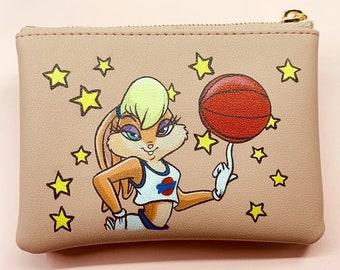 fe8d550c09b19 Hand painted Lola Bunny coin purse
