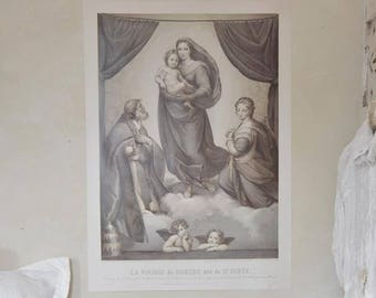 Madonna and Child Poster Home and Living Wall Decor Nordic French  Inspired
