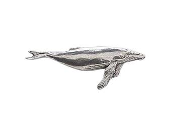 Pewter ~ Pilot Whale ~ Refrigerator Magnet ~ M070M