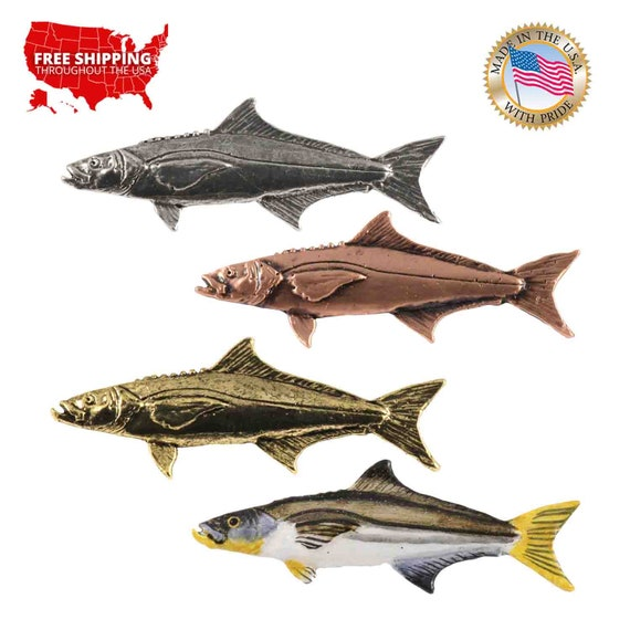 Brooch Jewelry Cobia Fish Pewter S029 Lapel Pin