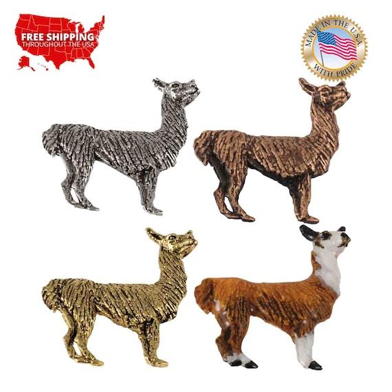 Brooch Llama Mammal Pewter Lapel Pin M199 Jewelry