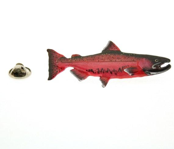 Painted ~ Premium Chinook Salmon Spawning ~ Refrigerator Magnet ~ FP044PRM