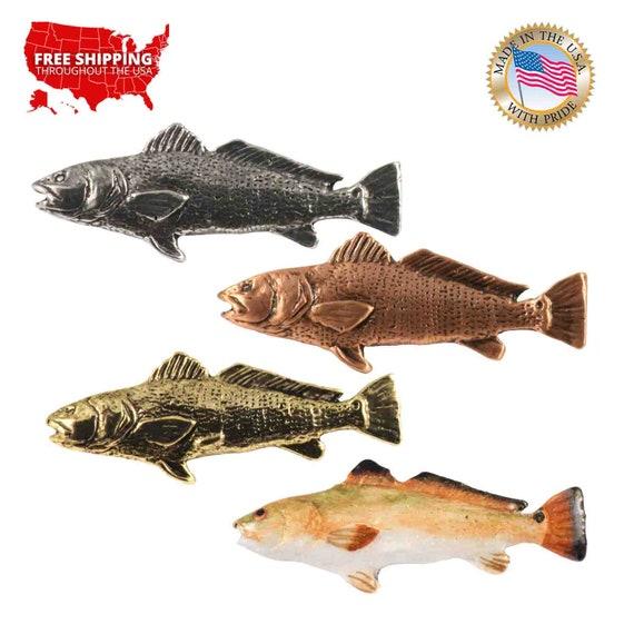 Redfish Rockfish Pewter S031 Lapel Pin Brooch Jewelry