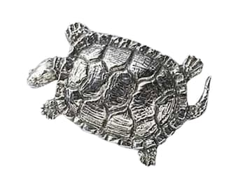 Pewter ~ Pond Turtle ~ Lapel Pin/Brooch ~ A150,AC150,AP150