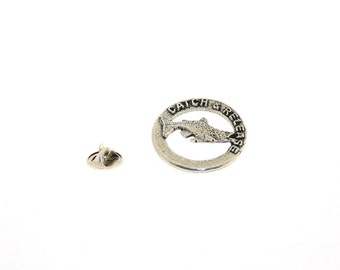 Trout Catch & Release Right ~ Lapel Pin/Brooch ~ R005,RC005