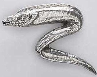 Pewter - Moray Eel - Lapel Pin/Brooch - S102,SC102,SP102