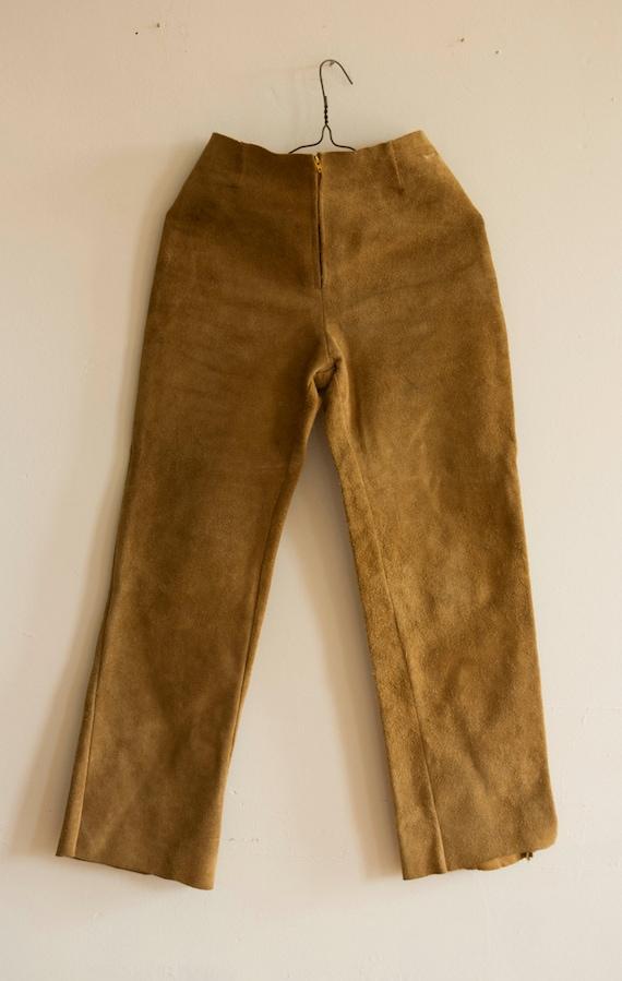 Suede Handmade 1960s High Waisted Pants